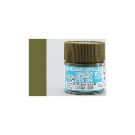 AQUEOUS SEMI GLOSS OLIVE DRAB FS34087