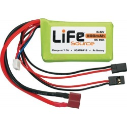 BATERIA LIFESOURCE LIFE 6.6V 1100MAH 10C RX