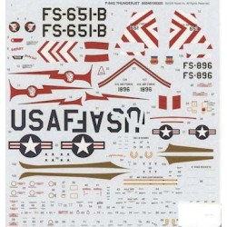 DECAL F-84G THUNDERJET